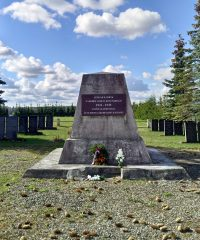 Burial place of Soviet Union soldiers of World War II