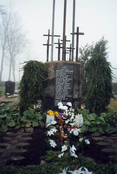 Partisan graves in Pandelis cemetery