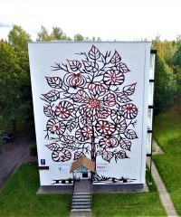 A building with drawing